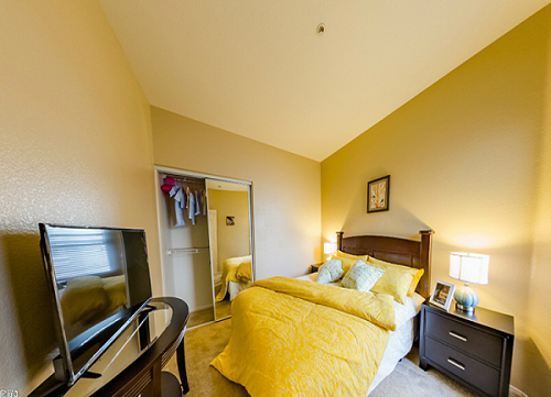Noble bedroom in American confinement center
